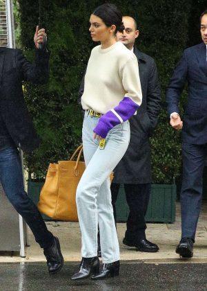 Kendall Jenner - Leaving Khloe Kardashian's baby shower in Beverly Hills