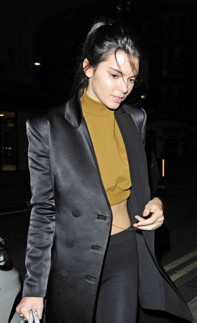 Kendall Jenner - Leaving Libertine nightclub in London