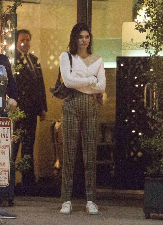 Kendall Jenner - Leaving Mr. Chow Restaurant with Blake Griffin in Beverly Hills