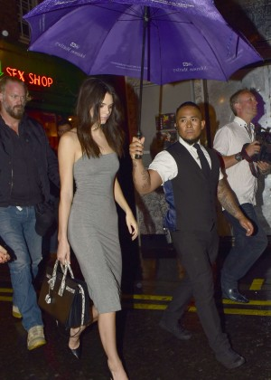 Kendall Jenner - Leaving the Box Club in London