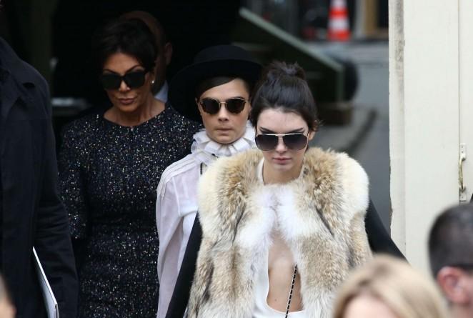 Kendall Jenner in Fur Coat -03