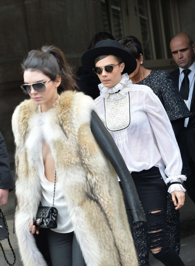 Kendall Jenner in Fur Coat -05