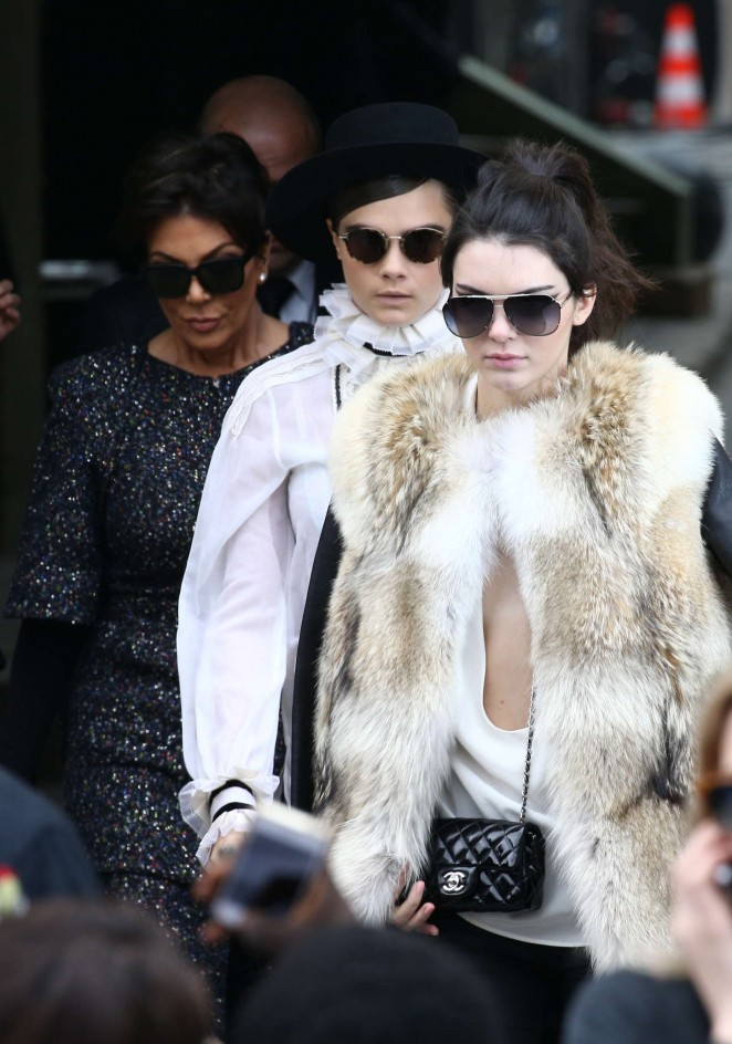 Kendall Jenner in Fur Coat -07