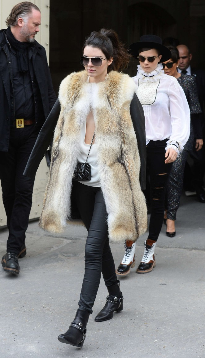 Kendall Jenner in Fur Coat -09