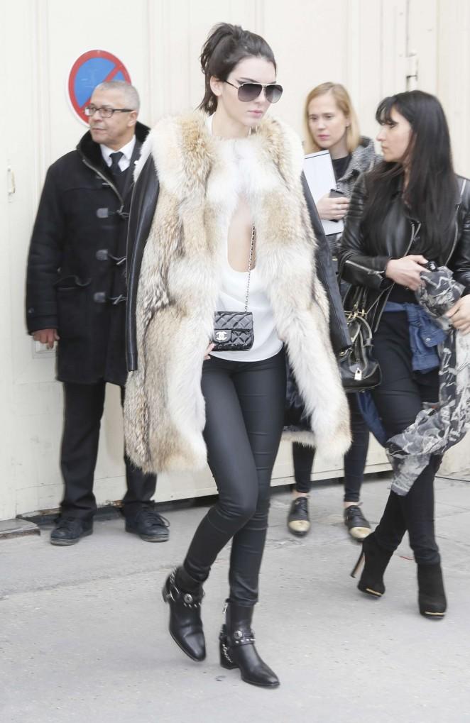 Kendall Jenner 2015 : Kendall Jenner in Fur Coat -12