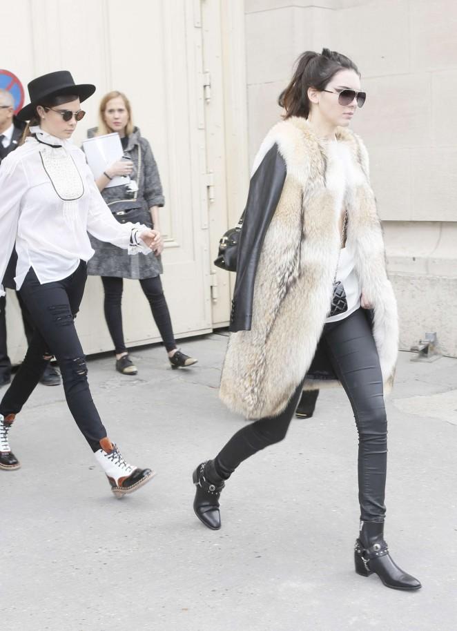Kendall Jenner 2015 : Kendall Jenner in Fur Coat -15