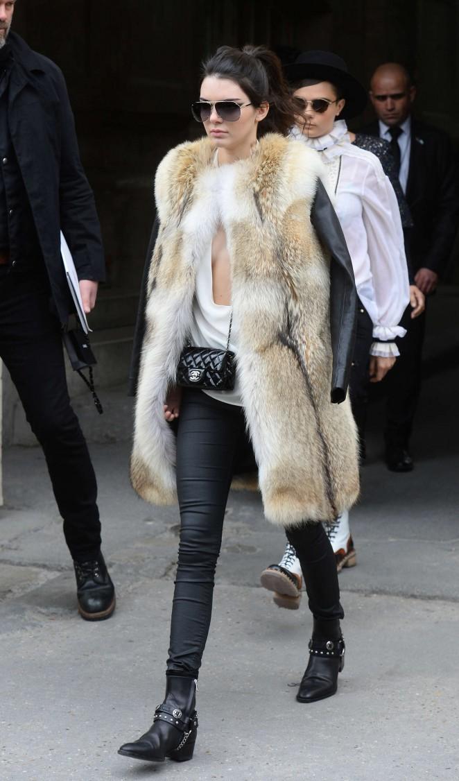 Kendall Jenner in Fur Coat -16