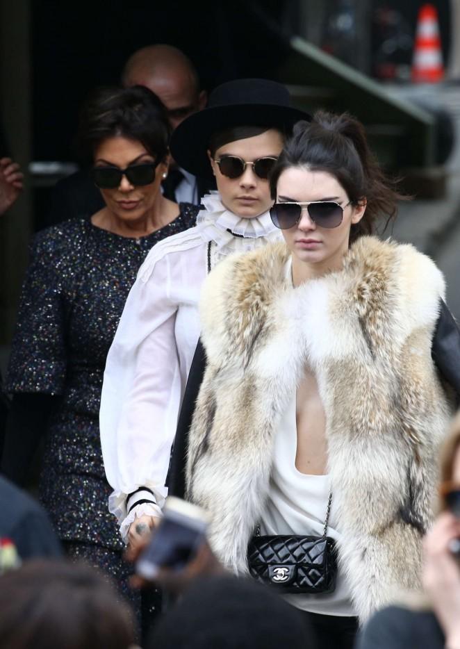 Kendall Jenner 2015 : Kendall Jenner in Fur Coat -18