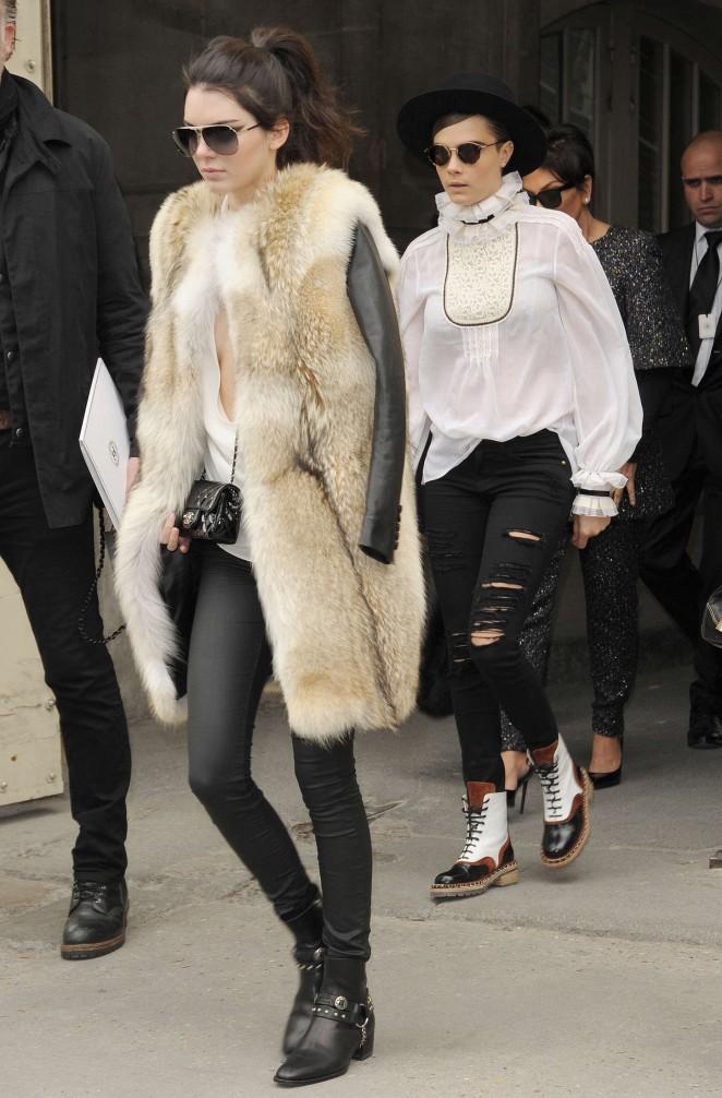 Kendall Jenner 2015 : Kendall Jenner in Fur Coat -19