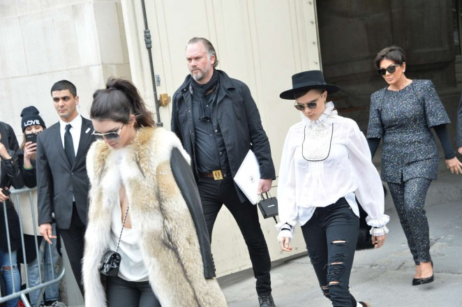 Kendall Jenner 2015 : Kendall Jenner in Fur Coat -20