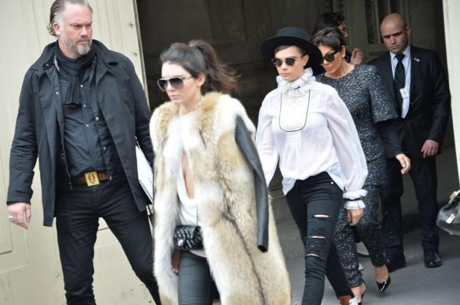 Kendall Jenner in Fur Coat -21