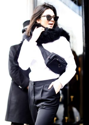 Kendall Jenner - Leaving the Four Seasons Hotel in Paris