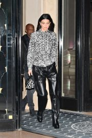 Kendall Jenner - Leaving the George V Hotel in Paris