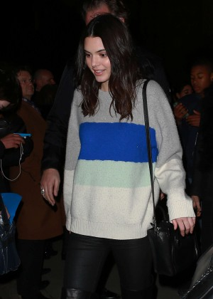 Kendall Jenner - Leaving the H&M Event in Paris