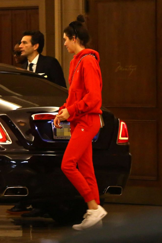 Kendall Jenner - Leaving the Montage Hotel in Beverly Hills