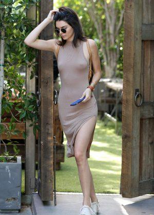 Kendall Jenner: Leaving The Villa Restaurant -01