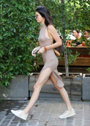Kendall Jenner: Leaving The Villa Restaurant -02