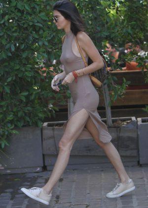 Kendall Jenner: Leaving The Villa Restaurant -03