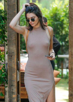 Kendall Jenner: Leaving The Villa Restaurant -04