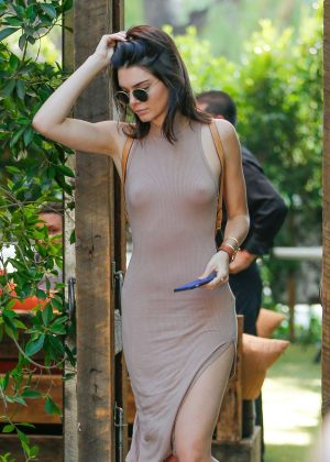 Kendall Jenner - Leaving The Villa Restaurant in Woodland Hills
