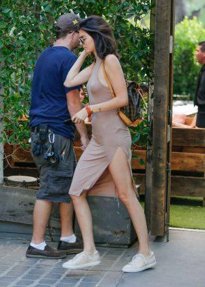 Kendall Jenner: Leaving The Villa Restaurant -17