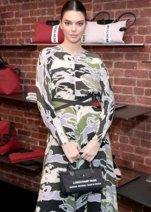Kendall Jenner - Longchamp by Shayne Oliver Preview in NYC