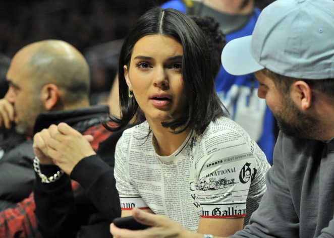Kendall Jenner - Los Angeles Clippers and the Boston Celtics game in LA