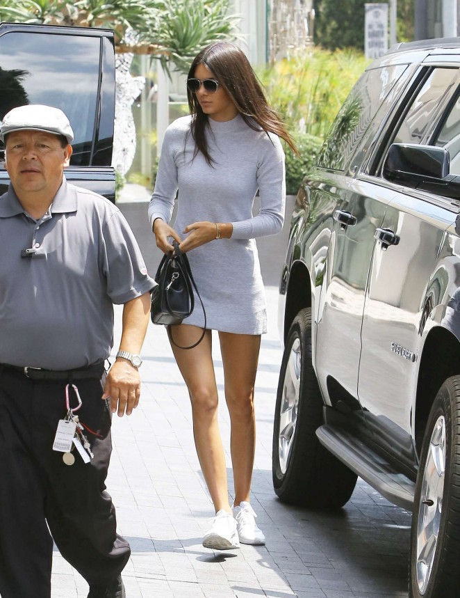 Kendall Jenner in Mini Dress at Meeting in West Hollywood