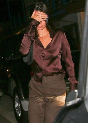 Kendall Jenner - Night out in Los Angeles