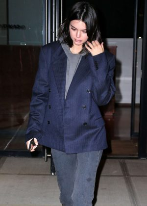 Kendall Jenner - Night out in NY