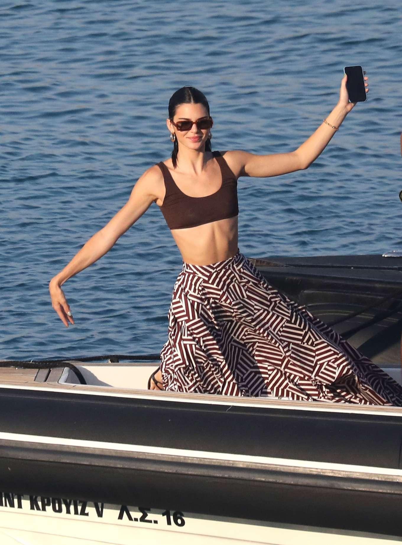 Kendall Jenner - On a boat in Mykonos