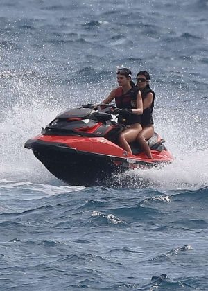 Kendall Jenner on Jet skiing in Antibes