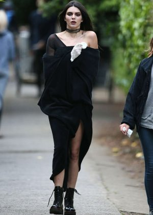 Kendall Jenner - On set of a Photoshoot in London