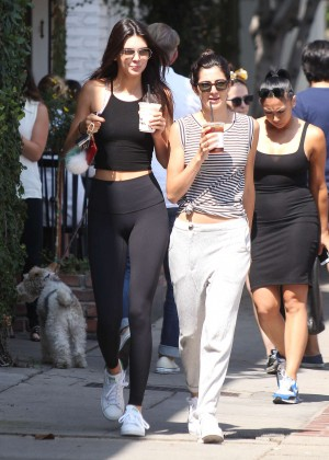 Kendall Jenner in Leggings Out in LA