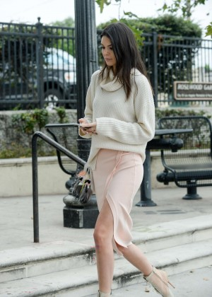 Kendall Jenner in Skirt Out in LA