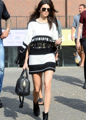 Kendall Jenner in Mini Dress Out in London