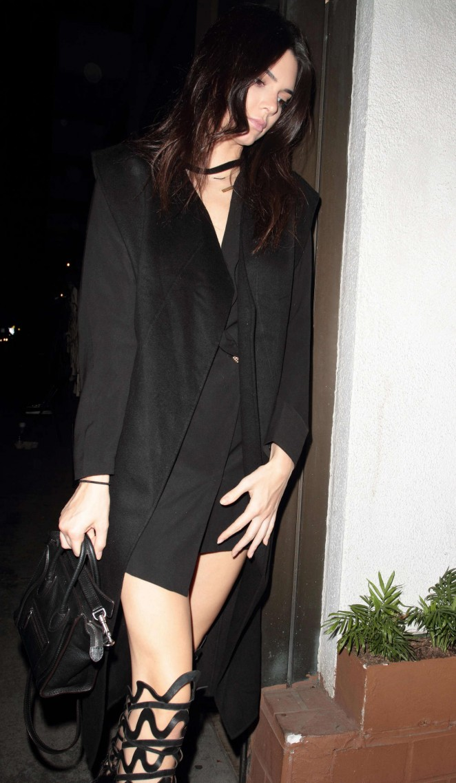Kendall Jenner – Out For Dinner at Madeo in West Hollywood