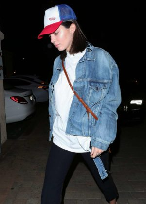 Kendall Jenner out for dinner in Los Angeles