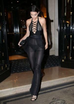 Kendall Jenner Hot in Black -08