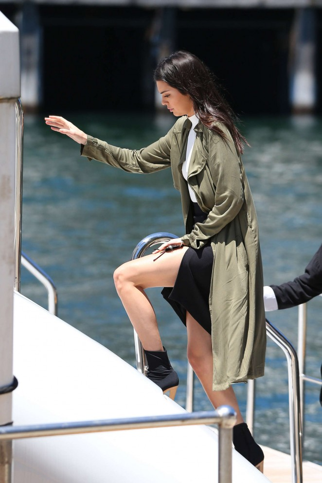 Kendall Jenner out on a Yacht in Sydney