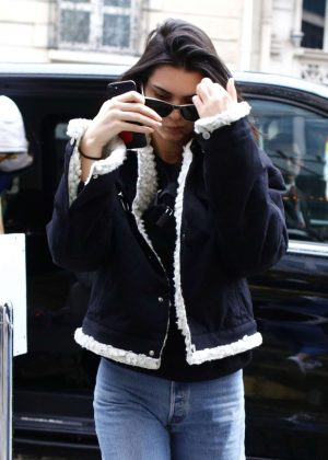 Kendall Jenner out shopping in Paris