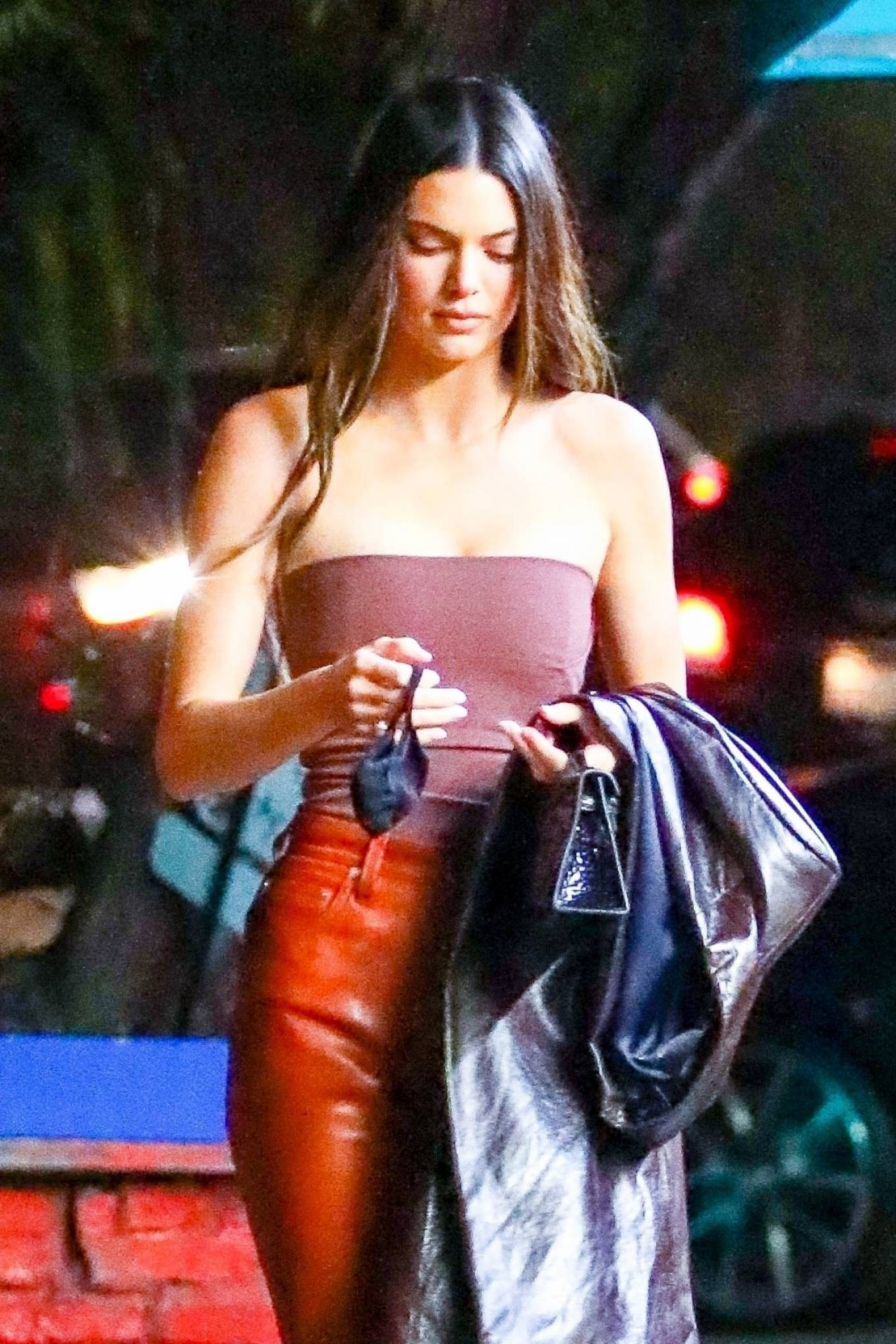 Kendall Jenner - Out with her friend Derek Blasberg at Delilah in West Hollywood