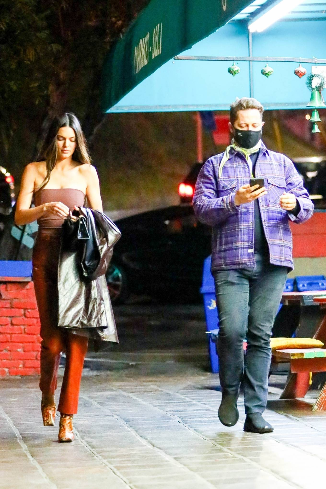 Kendall Jenner 2021 : Kendall Jenner – Out with her friend Derek Blasberg at Delilah in West Hollywood-23