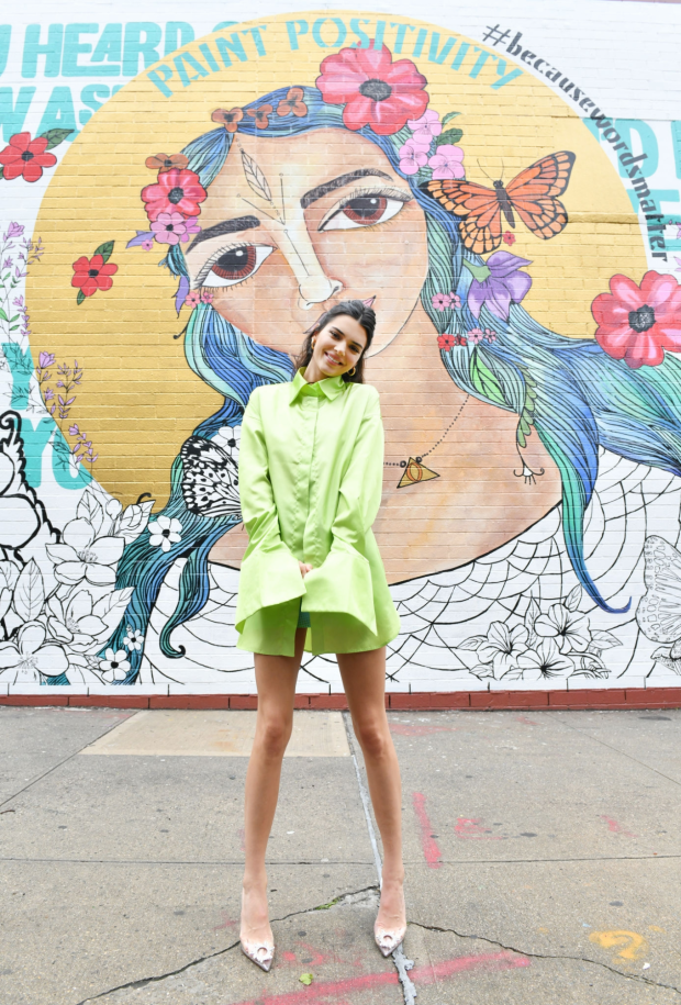 Kendall Jenner - Paint Positivity: Because Words Matter Event in NYC