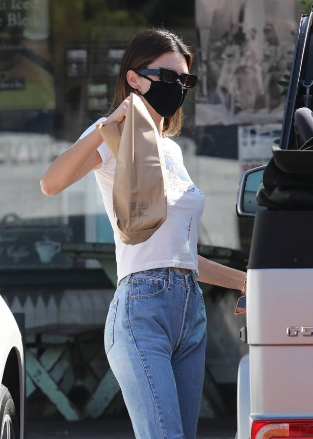 Kendall Jenner - picks up food and a fresh juice in Malibu