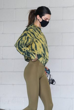 Kendall Jenner - Pictured leaving the gym in Beverly Hills