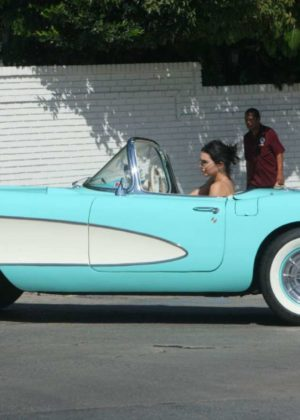 Kendall Jenner - Ride $100K Vintage Chevrolet in Beverly Hills