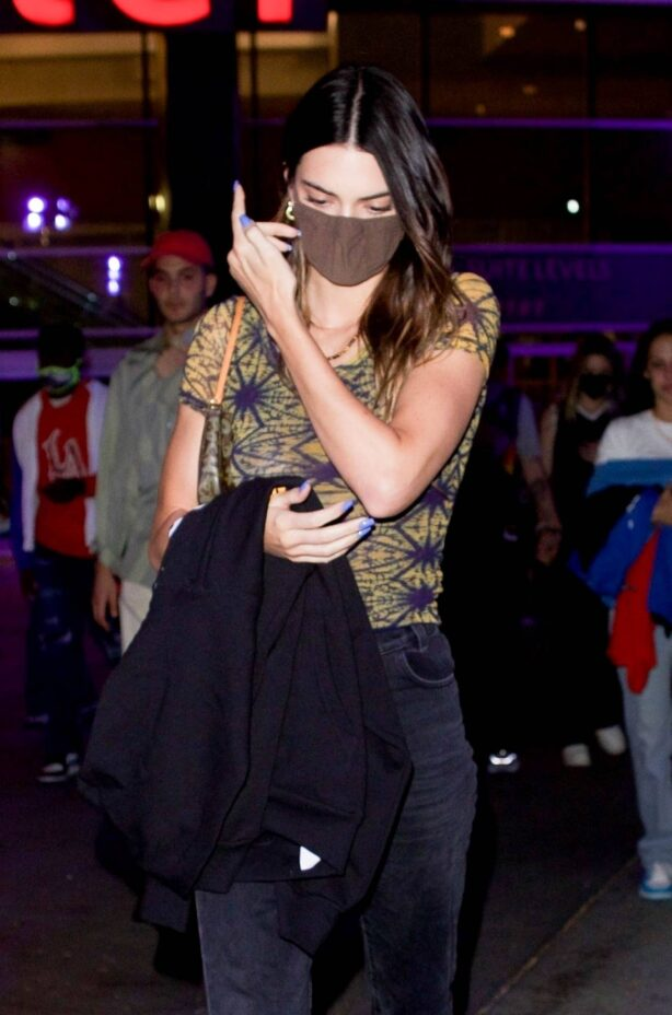 Kendall Jenner - seen after watching her boyfriend play in Los Angeles