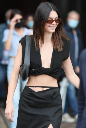 Kendall Jenner - seen leaving the Jacquemus show in Paris