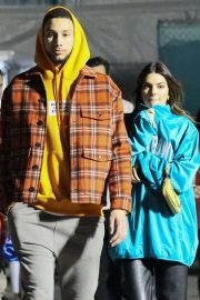 Kendall Jenner - Spotted while leaving the Super Bowl in Miami